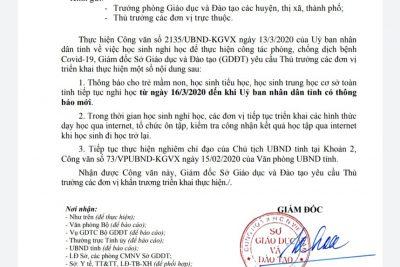 Công văn của Sở GD-ĐT Đắk Lắk và Phòng GD-ĐT Ea Kar, về việc kéo dài thời gian nghỉ học của học sinh để thực hiện công tác phòng chống dịch bệnh Covid-19